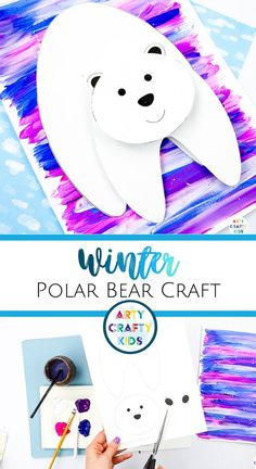 Looking for winter animal crafts for kids to make at home or at preschool this winter season? This 3D polar bear craft for kids involves painting + is easy for children to make with our printable polar bear craft template. Get this printable winter craft template + other easy winter crafts for kids to make here! Polar Bear Crafts for Kids Art Projects | Winter Crafts for Kids Polar Bear | Winter Animal Crafts for Kids Polar Bears | Winter Polar Bear Art for Kids #WinterCrafts…