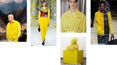 Geraldine Wharry: Key colour on the Fall Winter 2016 Catwalks: Bumble Bee Yellow - Tendances (#690716)