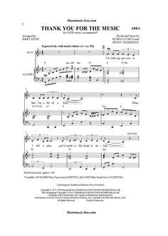 Thumbnail of first page of Thank You For The Music piano sheet music PDF by ABBA. Popular Piano Sheet Music, Piano Sheet Music Pdf, Clarinet Sheet Music, Free Piano Sheets, Music Chords, Free Sheet Music, Piano Music, Music Sheets, Abba Lyrics