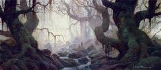 PAUL LASAINE: Portfolio: Lord of the Rings: Illustrations #Fangorn
