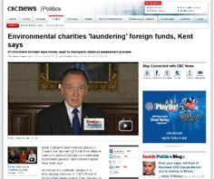 "Charities ""Laundering"" Funds:  Imagine Canada's Letter to the Minister of the Environment. --> In an interview this week, Peter Kent, Minister of the Environment, made comments that suggest charities are ""laundering"" funds and engaging in improper activity. Imagine Canada has written a letter to Minister Kent and copied the Prime Minister expressing our concerns."
