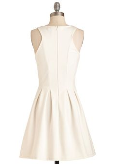 Bask by Popular Demand Dress. Your pals have requested your radiant presence for an outdoor happy hour - and youre happy to oblige in this chic white dress!  #modcloth
