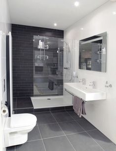 Gray Bathroom Ideas Worthy of Your Experiments Gray Bathroom Ideas – Gray Bathroom Photos. Excellent design ideas and also bath design motivation for health club shower rooms, master baths, kids shower rooms as well as even more. Bathroom Photos, Bathroom Layout, Bathroom Interior Design, Bathroom Ideas, Bathroom Organization, Bathroom Toilets, Bathroom Renos, Bathroom Flooring, Small Bathroom Renovations
