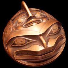Happy Blowhole - Haida | Robert Davidson 1992 - Cast bronze sculpture♦️More Pins Like This At FOSTERGINGER @ Pinterest