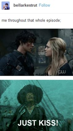 Bellamy, Clarke, Bellarke, tumblr, the 100, funny
