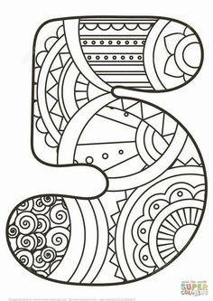 11 En Iyi Sayilar Mandala Goruntusu Mandala Boyama Sayfalari