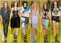 Versace MFW Primavera verano 2014. I can't stand the gladiator sandals though...