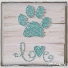 Paw Print Love String Art …