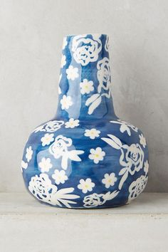 Main Image - Anthropologie Welcome Spring Vase Pottery Painting, Ceramic Painting, Keramik Vase, Welcome Spring, Spring Home, Home Decor Furniture, Vases Decor, Home Decor Inspiration, Stoneware