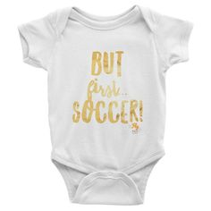 But First Soccer Fly Tots Infant short sleeve one-piece