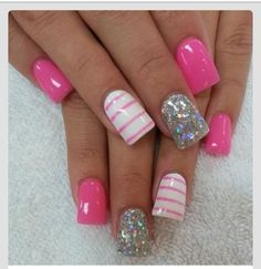pink and white nail ideas - Google Search