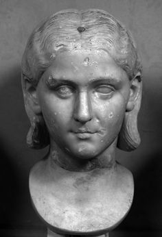 Portrait of Sallustia Orbiana?  This Roman portrait of an aristocratic woman has been in the collections of the Vatican Museums since 1804 (inv. 1822), having belonged previously to the sculptor Vicenzo Pacetti. The museum suggests that the woman may be Sallustia Orbiana, the wife of Alexander Severus (married A.D. 225/6) or perhaps one of the wives of Elagabalus.