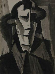 Vlastimil Beneš Head of a man Siena, Figure Painting, Portrait, Artist, Modern, Author, Trendy Tree, Headshot Photography, Artists