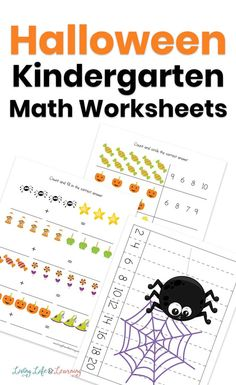 These Halloween Kindergarten math worksheets will add some spooky fun for your student. Get dot coloring pages, writing, counting worksheets and more. Halloween Worksheets, Halloween Math, Halloween Activities, Halloween Themes, Monster Activities, Kindergarten Math Activities, Preschool, Printable Activities For Kids, Free Printable Worksheets