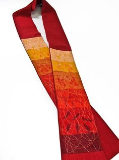 Contemporary Clerical Stole in Red from Upavim