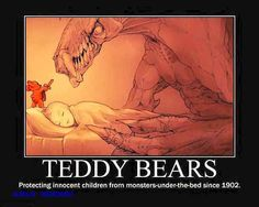 Funny pictures about Teddy Bears Are Always There To Protect Us. Oh, and cool pics about Teddy Bears Are Always There To Protect Us. Also, Teddy Bears Are Always There To Protect Us photos. Horror Comics, Funny Comics, Stupid Funny Memes, Funny Relatable Memes, Funniest Jokes, Really Funny, Funny Cute, Hilarious, Monster Under The Bed