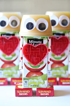 I signed up for Valentine's Day snack duty this year and my son gave me explicit instructions that it be a robot - valentine snack. Robot snacks with applesauce, juice boxes and candy are all ...
