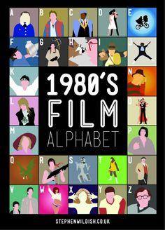 Stephen Wildish's 1980s 'Film Alphabet' Poster