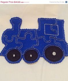 SALE Blue train Felt Puzzle game Perfect for by itsthesmallthings, $3.83