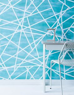 This wallpaper design by Realliving's Style Editor, Sarah Ellison, screams out 'Geometric Breeze' to me! The tones of blue along with the textures replicate the emotions associated with the ocean for me. And, the linear pattern on top adds in a modern twist. 'Light of Heart' Wallpaper, Sarah Ellison.