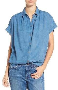 Madewell 'Central' Chambray Shirt available at #Nordstrom