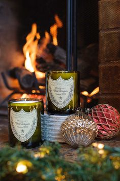 This vinatage recycled champagne candle is the perfect gift for someone who has everything