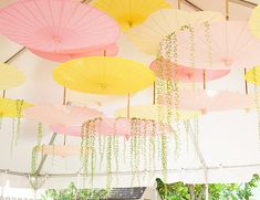 Pink and Yellow Garden Shower by Browntography // Inspired by This