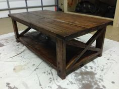 Rustic X stlye coffee table | Do It Yourself Home Projects from Ana White