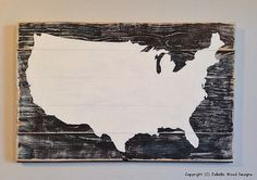 US Map Distressed Wood Painting Pallet by JoBellaWoodDesigns