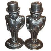 Unique Rare Collectible Figural Salt & Pepper Shakers Winston Churchill