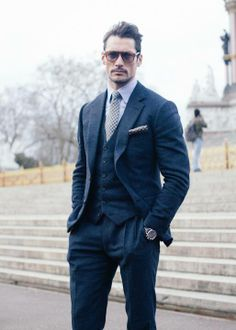 David Gandy attending London Mens Fashion Week Autumn/Winter 2014, London  Named as one of the 10 Best Dressed Men of the Week, GQ.com January, 2014