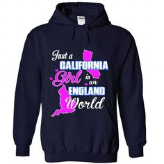 Just A California Girl in A england Girl World - #christmas gift #bridal gift. LOWEST SHIPPING => https://www.sunfrog.com//Just-A-California-Girl-in-A-england-Girl-World-2685-NavyBlue-Hoodie.html?68278