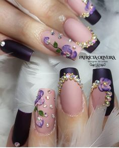 twelve of the finest beauty methods to save you money right now. 3d Acrylic Nails, 3d Nail Art, Pastel Nails, Gorgeous Nails, Pretty Nails, Nailart, Uñas Fashion, Luxury Nails, Flower Nail Art