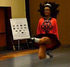 Irish dance action shot