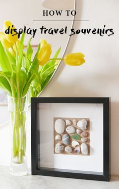 A cheap and easy way to display a collection, like pebbles or rocks