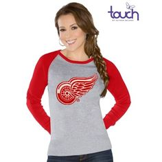 Touch by Alyssa Milano Detroit Red Wings Womens Fan For Life Sweater - Gray/Red
