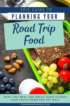 These road trip food and meal ideas will not only save you a load on your holiday budget. They can also help you to eat healthy while you travel too... avoiding the greasy burger and chips combo you may otherwise have purchased! Get the free printable road trip food list & meal planner to help you enjoy a thrifty road trip adventure with your family with delicious road trip meals and snacks! Road Trip Snacks, Road Trip Meals, Road Trips, Planning Budget, Menu Planning, Trip Planning, Cottage Meals, Burger And Chips, Healthy Snacks