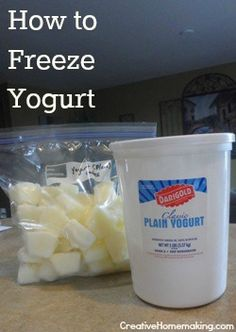 How to freeze yogurt for homemade smoothies.