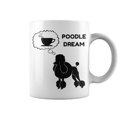 POODLE DOG DREAM COFFEE MUG