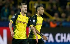 Download wallpapers Andrey Yarmolenko, Pierre-Emerick Aubameyang, 4k, Borussia Dortmund, Germany, Bundesliga, football