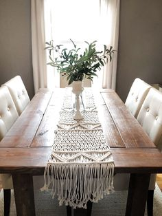 Macrame Wedding Runner Wedding Macrame Table Runner Rustic Etsy You are in the right place for moder Macrame Design, Macrame Art, Macrame Knots, Etsy Macrame, Macrame Mirror, Rustic Kitchen Decor, Rustic Table, Rustic Decor, Home Decor Ideas