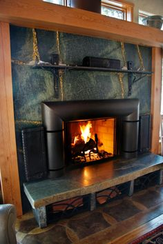 Isokern fireplace with a very rich finish by hot rock for Isokern fireplace cost