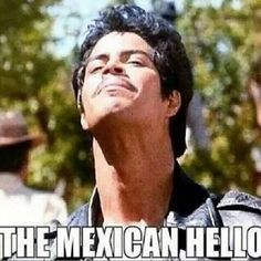 The Mexican Hello I don't know why but I've started doing this a lot lately! Got it from my dad. #q-vo