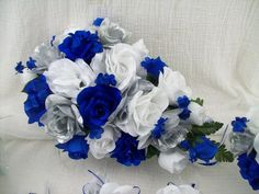 Silk Wedding Flowers Cascade Bridal Bouquets by VanCaronCollection