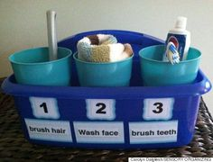 I need to do this in the bathroom -- 12 Ridiculously Simple Hacks Every Parent Needs In The Morning