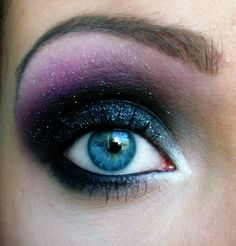 This eye makeup looks like space.  :D  It's lovely.
