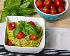 Casserole Recipe : Avocado Pesto and Roasted Cherry Tomato Pasta
