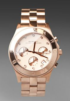 <3 Marc by Marc rose gold watch. Of course, id probably prefer it in black - shock horror! #timepiece
