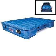 This air mattress has cutouts for the wheel wells. AirBedz Original Truck Bed Air Mattress.