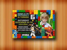 Lego Ninjago Invitation / Lego Ninjago Birthday / Lego Ninjago Birthday Invitation / Lego Ninjago Party / Lego Ninja Printable / Ninja-C324 by SABARINGADERI on Etsy https://www.etsy.com/listing/484795906/lego-ninjago-invitation-lego-ninjago